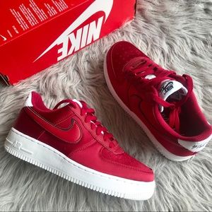 Nike Air Force 1 Red Crush satin women's Size 8